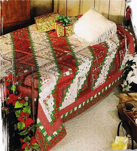 Christmas Log Cabin Creative Scrap Quilt Pattern Leaflet