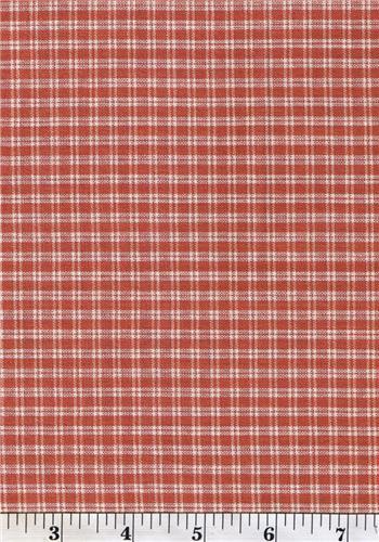 Dunroven House H-702 Primitive Style Homespun Dark Rose Plaid Fabric 1/2 Yd Cut