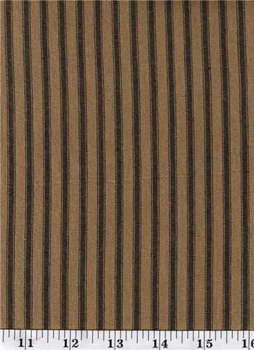 Dunroven House H-56 Primitive  Homespun  Black Ticking  Fabric 1/2 Yd Cut