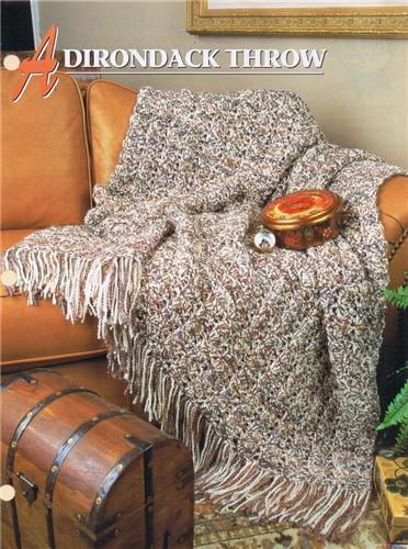 Adirondack Throw Annies Attic Crochet Afghan Pattern Instructions