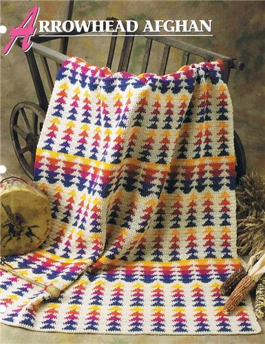 Annies Attic Crochet Patterns : Arrowhead Afghan Annies Attic Crochet Afghan Pattern Instructions