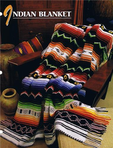 Indian Blanket  Annie's Attic Crochet Afghan Pattern Instructions