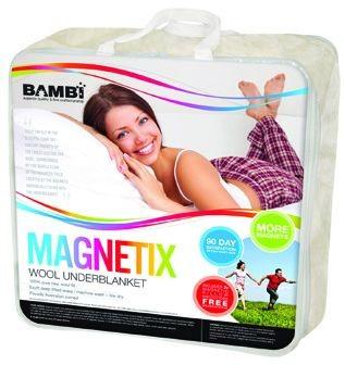 Bambi Magnetix Woollen Magnetic Underblanket Free Pillow