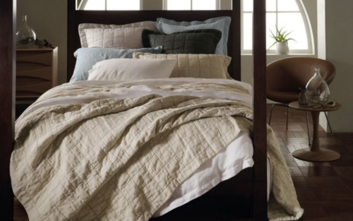 Sheridan Abbotson 100 Linen Quilted Bedcover Hotel At Home