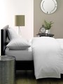 Linen House 5 Star Hotel Commercial Polycotton/Percale Queen Fitted Sheet 375TC