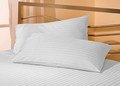 5 Star Hotel Satin Stripe King Pillowcase - 3cm width stripe