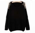 kn69 studded shoulder bat-wing sweater2.jpeg