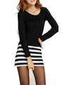 dc15 black top+striped skirt dress2.jpeg