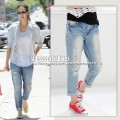 Boyfriend ripped cropped jeans light blue in style of Jessica Alba3.jpg