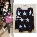 kn56 star print shredded torn light sweater - emma roberts2 copy.jpeg