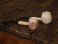 Neked Diplomat Apple Natural Unfinished Missouri Meerschaum Corn Cob Pipe from Aristocob