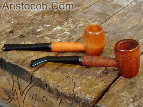 Aristocob Missouri Meerschaum Corn Cob Pipe Tobacco Smoking Ozark Mountain Hardwood Pipe Pair
