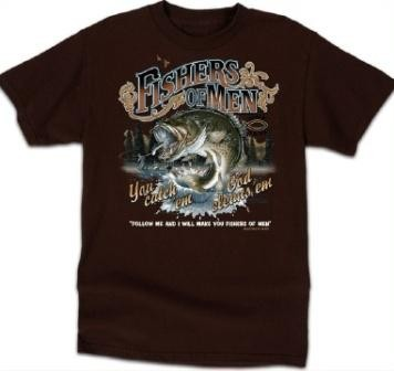 Kerusso Christian Fishers of Men 3 Adult T-Shirt - Small, Medium, Large, XL, 2X