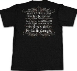 Kerusso Christian Crucified Adult T-Shirt - Small, Medium, Large, XL, 2X, 3X, 4X