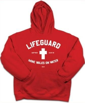 Kerusso Christian Adult Hooded Sweatshirt Lifeguard - Small, Medium, Large, XL, 2X