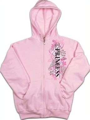 Kerusso Christian Adult Hooded Zipper Sweatshirt Princess 3 - Small, Medium, Large, XL, 2X