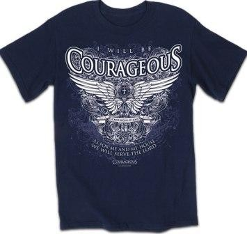 Kerusso Christian Courageous Winged Crest Adult T-Shirt - Small, Medium, Large, XL, 2X, 3X, 4X