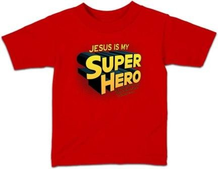 Kerusso Christian Jesus Is My Super Hero Toddler T-Shirt - 3T, 4T, 5T