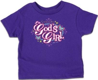 Kerusso Christian I am God Girl T-Shirt - 3T, 4T, 5T
