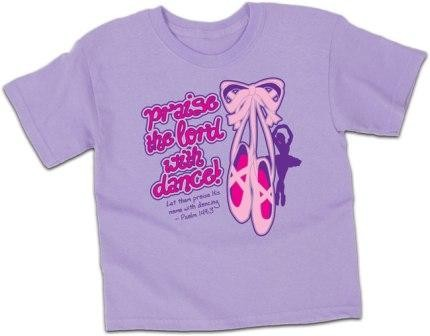 Kerusso Christian Praise The Lord With Dance T-Shirt - 3T, 4T, 5T, SM, MD, LG