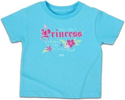 Kerusso Christian Yes, I am a Princess Aqua- 3T, 4T, 5T