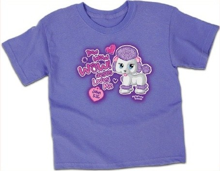 Kerusso Christian Puppy Lavander T-Shirt - 3T, 4T, 5T, Small, Medium, Large