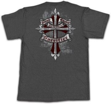 Kerusso Christian Sacrifice 2 T-Shirt - Small, Medium, Large, XL, 2X, 3X - FRONT