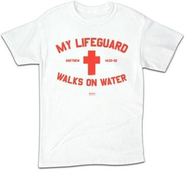 Kerusso Christian Lifeguard White Adult T-Shirt - Small, Medium, Large, XL, 2X, 3X, 4X