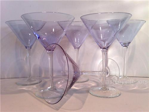 Blue Cocktail Glasses
