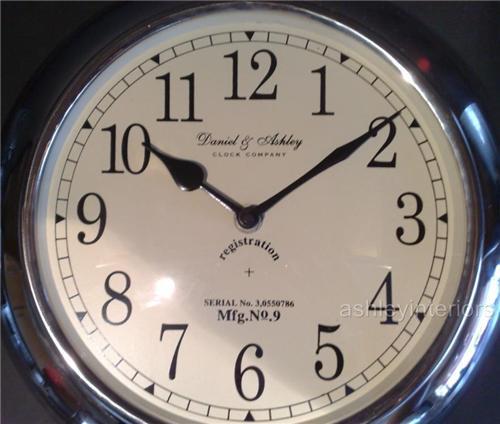 Nickel Pocket Watch Wall Clock Daniel & Ashley Company