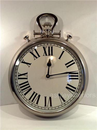 Pocket Watch Wall Clock White Face