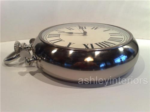Pocket Watch Wall Clock Chrome Clock
