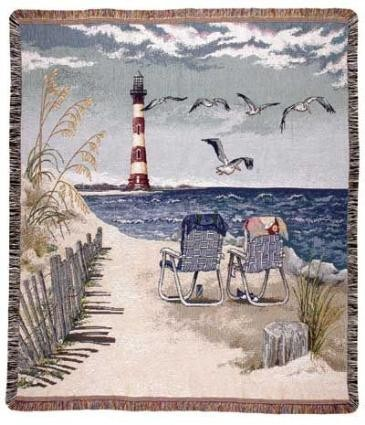 Beach, Nautical, Lighthouse Throw Blankets