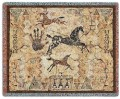 Tlalocs Tribe Southwest Horse Throw Blanket.jpg