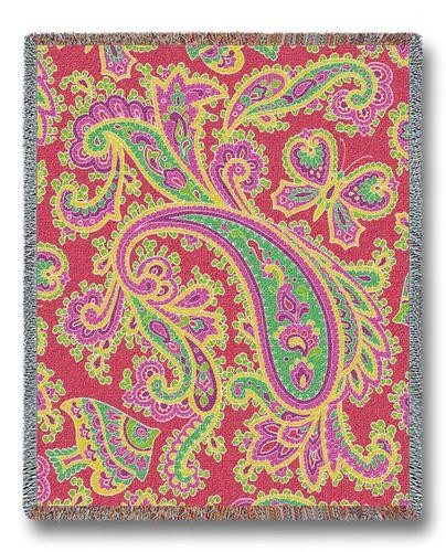Paisley Pink Throw Blanket.jpg