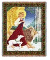 Angel Lion And Lamb Throw Blanket.jpg