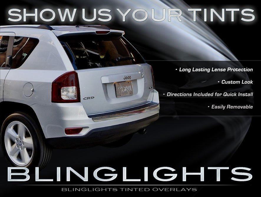 jeep compass tinted smoked taillamps taillights overlays protection. Cars Review. Best American Auto & Cars Review