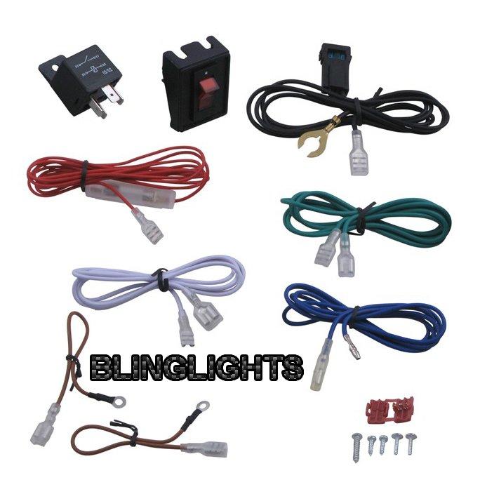 40 amp relay wiring kit 100watt driving light auxilliary road 4x4 l harness blinglights