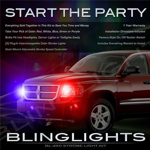 Dodge Dakota Strobe Light Kit for Headlamps Headlights Head Lamps Lights Police Strobes