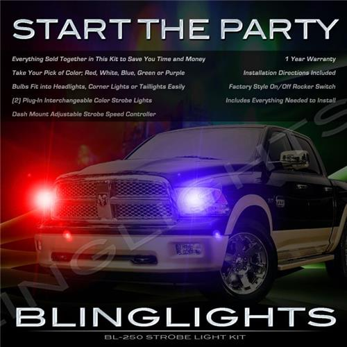 Dodge Ram Strobe Police Light Kit for Headlamps Headlights Head Lamps Lights Strobes