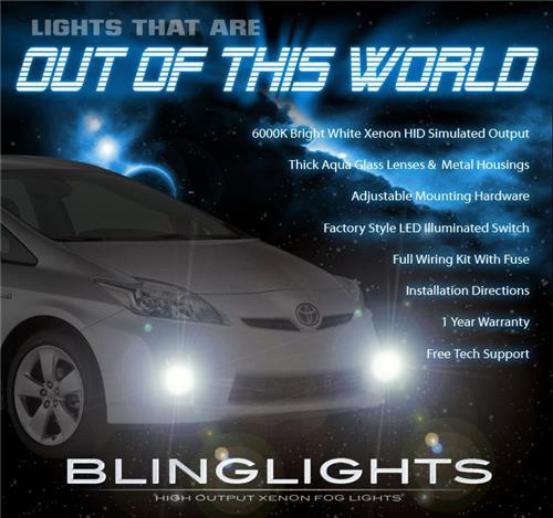 2010 2011 Toyota Prius Xenon Fog Lights Driving Lamps II III IV Hybrid kit