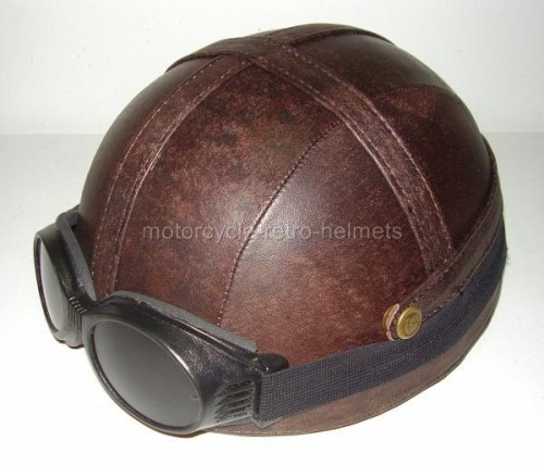 Motorcycle Helmet OUTRIDER Antique Real Leather WILD HOGS ...