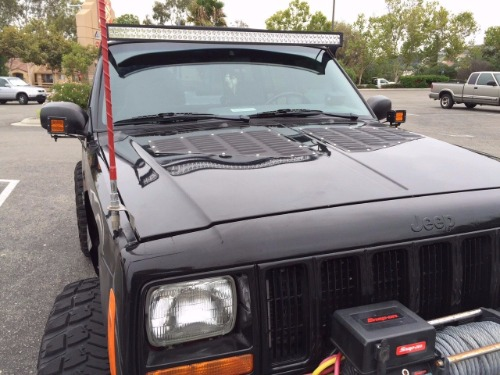 Jeep Xj Louvered Aluminum Hood Bolt On Cooling Panels