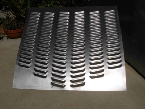 Angled Hood Louvered Panel 114 Louvers Rod Louvers And