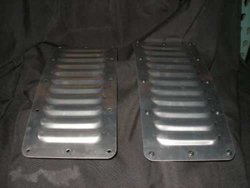 Pair Of Aluminum Hood Bolt On Panels 11 5 Quot Straight