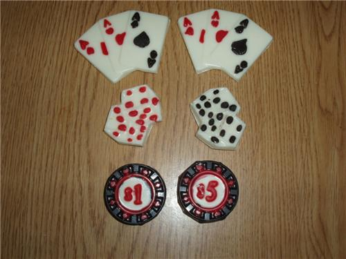 casino cake toppers