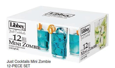libbey glass just cocktails 5oz mini zombie barware dessert glasses - Libbey Glassware