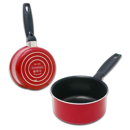 1 Quart Red Tramontina Non Stick Sauce Pan Food Pot Frying