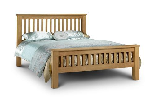 Amsterdam kingsize 5 39 0 american solid oak wooden bed for American furniture bed frames