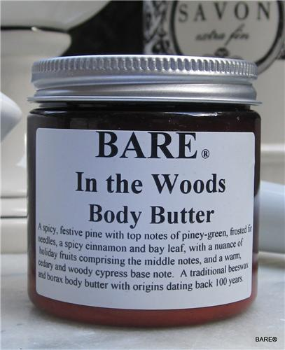 "BARE ""IN THE WOODS"" (unisex)Body Butter"